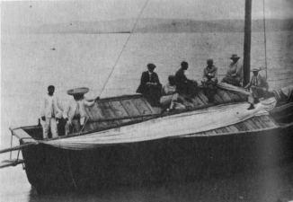 D. H. Lawrence aboard-esmeralda chapala-1923